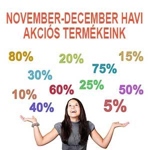 Novenber, december havi akciós termékeink.
