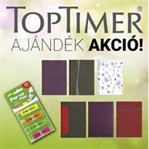 Toptimer határidőnapló ajándék akció!