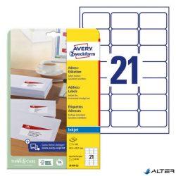 ETIKETT AVERY J8160-25 63,5X38,1 INKJET