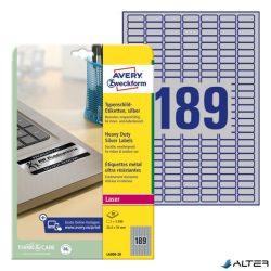 ETIKETT AVERY L6008-20 25,4X10 LASER EZÜST