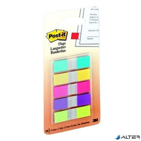 Oldaljelölő 3M Post-it 683-5 12x43mm műanyag 5 szín