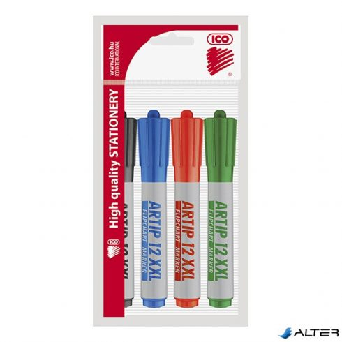 Flipchart marker ICO Artip 12 XXL vágott 4-es készlet 1-4mm