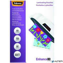 Lamináló fólia Fellowes A/4 80 mikron matt, 100/csom