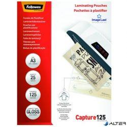 Lamináló fólia Fellowes A/3 125 mikron fényes 25/csom