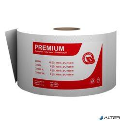Toalettpapír Fortuna Premium Jumbo mini  tekercses 2 rétegű 19cm hófehér 12/csom