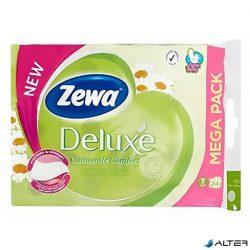 Toalettpapír Zewa Deluxe 3 rétegű 24 tekercses Camomila Comfort