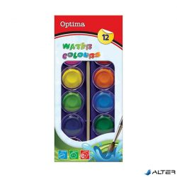 Optima vízfesték ecsettel 12 db-os