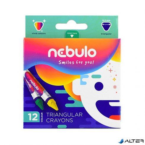 Zsírkréta NEBULO háromszög 12-es készlet