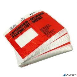 Lieferschein-Rechnung C/5 piros, öntapadó okmánytasak