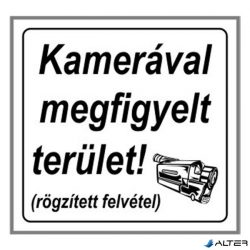 """MATRICA KAMERÁVAL MEGFIGYELT TERÜLET FEHÉR """"A"""""""