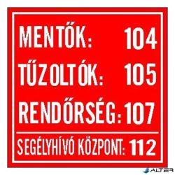 """MATRICA MENTŐ TŰZOLTÓ HÍVÓSZÁMOK PIROS """"B"""""""