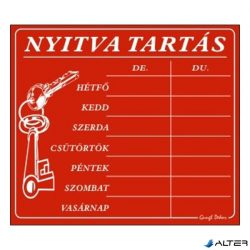 PIKTOGRAM NYITVA TARTÁS /SZÁMOKKAL/ 7 NAPOS PIROS