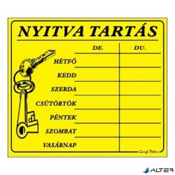 PIKTOGRAM NYITVA TARTÁS /SZÁMOKKAL/ 7 NAPOS SÁRGA