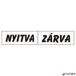 PIKTOGRAM NYITVA-ZÁRVA (KÉTOLD. TÁBLA) FEHÉR