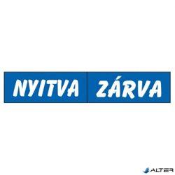 PIKTOGRAM NYITVA-ZÁRVA (KÉTOLD. TÁBLA) KÉK