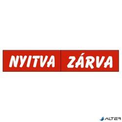 PIKTOGRAM NYITVA-ZÁRVA (KÉTOLD. TÁBLA) PIROS