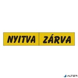 PIKTOGRAM NYITVA-ZÁRVA (KÉTOLD. TÁBLA) SÁRGA