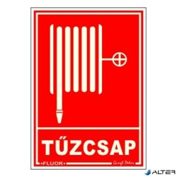PIKTOGRAM TŰZCSAP PIROS (FLUOR.)
