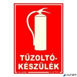 PIKTOGRAM TŰZOLTÓKÉSZÜLÉK PIROS (FLUOR.)