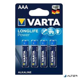 Elem mikro Varta 'Longlife Power' AAA 4-es