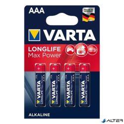 Elem mikro Varta 'Longlife Max Power' AAA 4-es