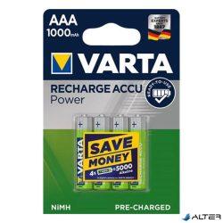 Elem mikro tölthető Varta 'Power' AAA előtöltött 4x1000 mAh