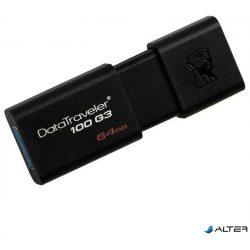 USB PENDRIVE KINGSTON 64GB DT100 G3 3.1 FEKETE SLIDER