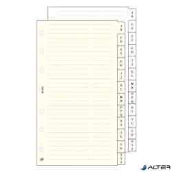 Gyűrűs kalendárium betét Saturnus S315 telefonregiszter sárga lapos