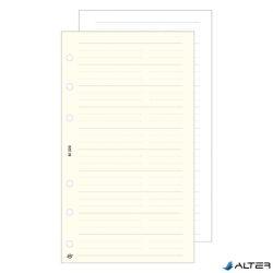 Gyűrűs kalendárium betét Saturnus S320 telefon bianco sárga lapos