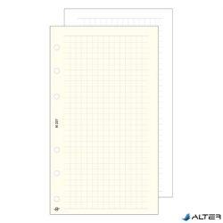 Gyűrűs kalendárium betét Saturnus L327 négyzethálós jegyzetlap sárga lapos