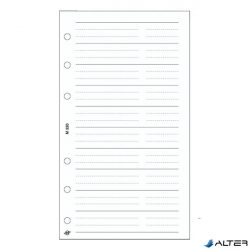 Gyűrűs kalendárium betét Saturnus M320/F telefon bianco fehér lapos