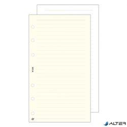 Gyűrűs kalendárium betét Saturnus S326/F vonalas jegyzetlap fehér lapos