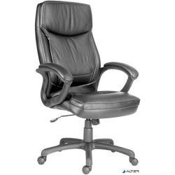 """Főnöki szék, bőrborítás, fekete lábkereszt, """"Hawaii"""", fekete"""