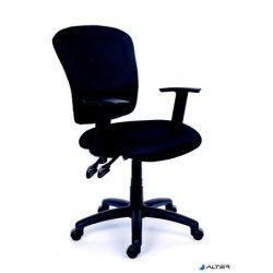 """Irodai szék, fekete szövetborítás, fekete lábkereszt, MAYAH """"Active"""""""