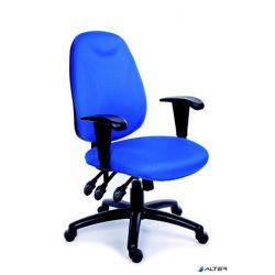 """Irodai szék, állítható karfával, exkluzív kék szövetborítás, fekete lábkereszt, MAYAH """"Energetic"""""""