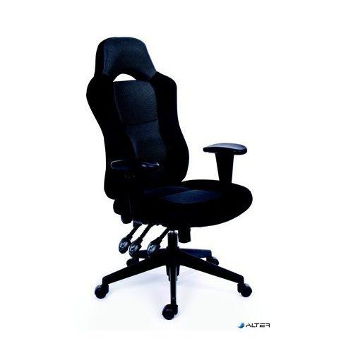 """Főnöki szék, fekete/szürke gyöngyszövet-borítás, fekete lábkereszt, MAYAH """"Racer"""""""