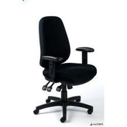 """Irodai szék, állítható karfás, exkluzív fekete szövetborítás, fekete lábkereszt, MAYAH """"Bubble"""""""