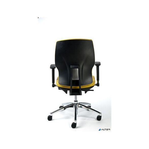 """Irodai szék, állítható karfával, sárga szövetborítás, alumínium lábkereszt, MAYAH """"Sunshine"""""""