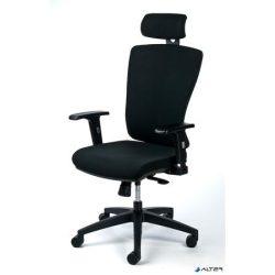 """Irodai szék, állítható karfával, fekete szövetborítás, fekete lábkereszt, MAYAH """"Greg"""""""