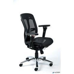 """Irodai szék, állítható karfás, hálós ülőlap, hálós háttámla, alumínium lábkereszt, MAYAH """"Flow"""""""
