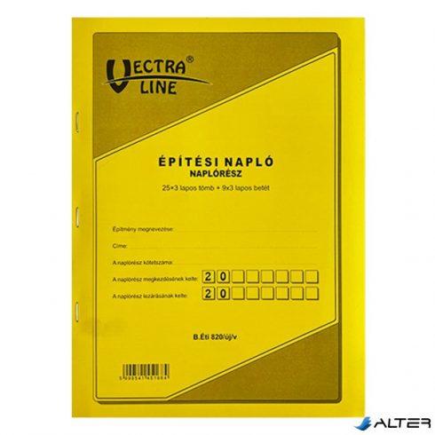 ÉPÍTÉSI NAPLÓ VECTRA-LINE A/4 25X3 ÁLLÓ PÓTLAPOKKAL