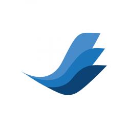 """Székalátét, kemény felületre, L forma, 120x150 cm,  RS OFFICE """"Ecoblue"""""""