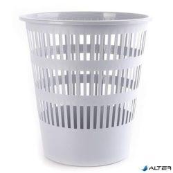Papírkosár, 12 liter, DONAU, szürke