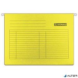 Függőmappa, karton, A4, DONAU, sárga