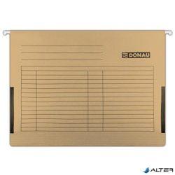 Függőmappa, oldalvédelemmel, karton, A4, DONAU, barna