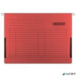 Függőmappa, oldalvédelemmel, karton, A4, DONAU, piros