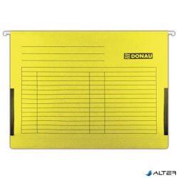 Függőmappa, oldalvédelemmel, karton, A4, DONAU, sárga