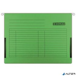 Függőmappa, oldalvédelemmel, karton, A4, DONAU, zöld