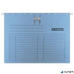 Függőmappa, gyorsfűzős, karton, A4, DONAU, kék