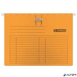 Függőmappa, gyorsfűzős, karton, A4, DONAU, narancs